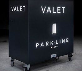 Secure valet parking stand