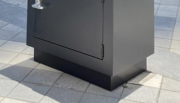 Skirting for secure valet parking stand